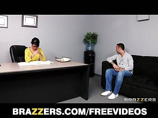Dana Vespoli inspects Keiran Lee's cock for insurance