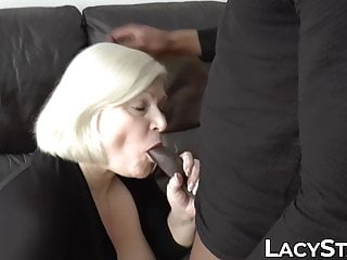 Busty BBC interracial UK grandma Starr riding Lacey