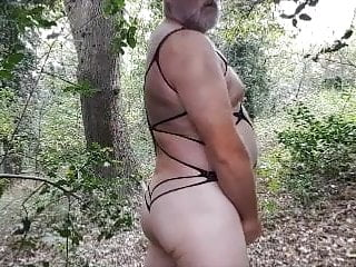 Panty Cum Play In The Woods