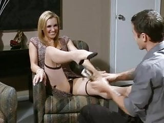 British slut Tanya in a foot fetish scene