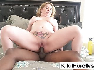 Kiki Daire has a workout with her Instructor and his BBC