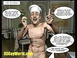 PLEASING GAY CUSTOMER 3D Cartoon Comic Anime Hentai Story