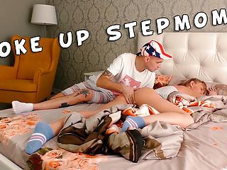 Stepmom woke up from the stepson'