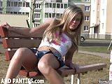 Everyone in my neighborhood will see my panties