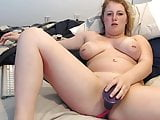 fat dildo girl and her hitachi