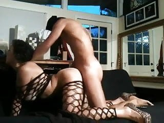 Arab babe in fishnets is the ass...