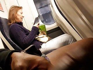 dick flash milf on trainPorn Videos