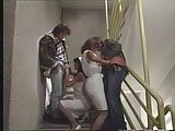 Nurses Anita Blonde & Anita Dark Give Head on Stairs