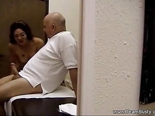 Amateur Big Cock video: Amateur Massage Turns Into Blowjob With Bald Grandpa