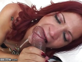 Whiteghetto destroying her tight trans ass huge dick...
