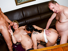 amateureuro - foursome sex with hot bbw gilfs (hanne & erna)free full porn