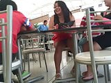 upskirt under the table mall