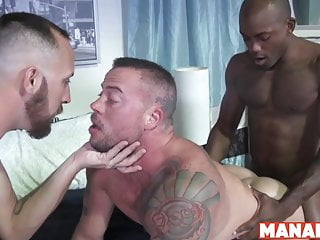 Manalized sean duran cums and interracial...