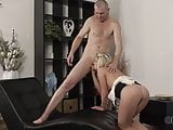 OLD4K. Young girl and her trimmed twat were ready for old...
