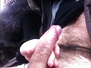 fur handjob in car