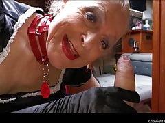 French Maid Joy licks and sucks cock - link in description