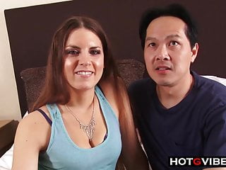 Asian Dude has a Erotic White GF