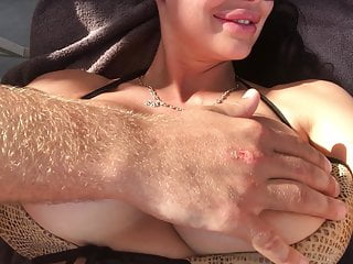 milf boob massage with oil