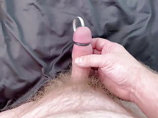 urethral sound + cum
