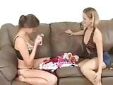 lesbian licking and sniffing theirs own panties