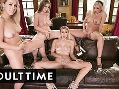 Lesbian SQUIRT Bukkake with 4 Pornstar BABES - ADULT TIME