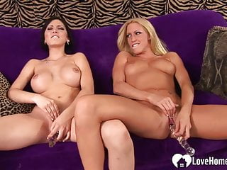 other's dildos  on each hotties   slit use Two