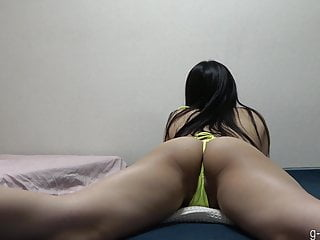 JAV Slut Yua in String Bikini Petite Thong Wedgie