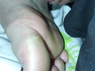Amateur Milf Feet making wet with pre cum