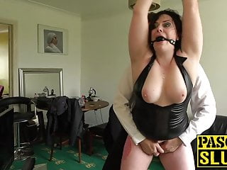 Woman is ready for hardcore bondage sex...