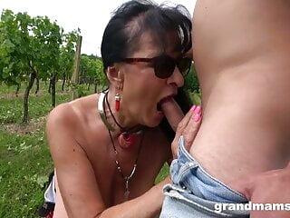 Lilian Black Creampied Twice In Vineyard HD