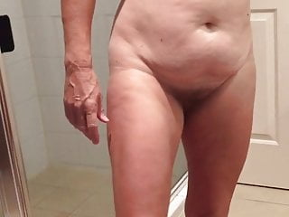 nude hairy wife after shower