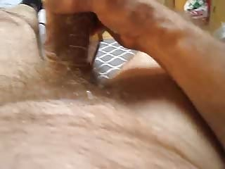 Dad Breaks Condom While Jerking It