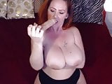 Dirty talking mother Sunny with immense boobs masturbates