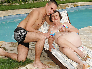 Bikini Granny Loves Intercourse With Her Youthful Lover