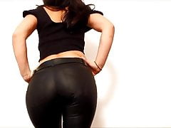 The Big Ass Girl gets Naughty in her Tight Leather Pants