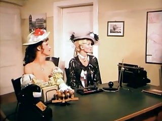 Lunar two girls seduce two mens office...
