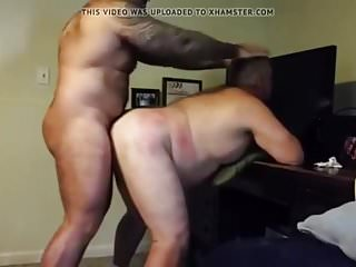 Chubby daddy gets fucked by muscle bear...