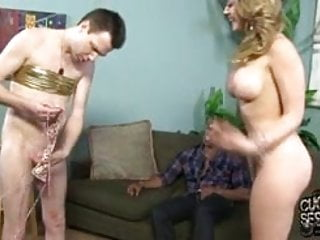 Kagney Linn Karter creampied by BBC in front of cuckold