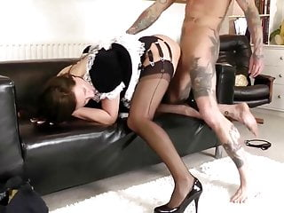 Glamorous mature maid gets fucked