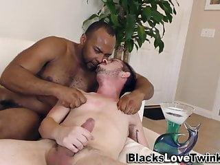 Black bear bangs shlong sucking white twink