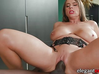 Busty euro milf fucked anal at interracial massage...