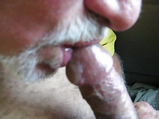 Another gentle cock licking, he loves it ! and its obvious.