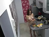 Czech cute teen - Naked cooking