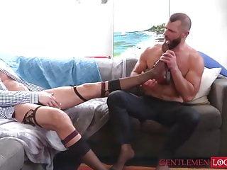 Kinky mature stud dolf dietrich sucks off sock...