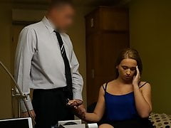 LOAN4K. Young naive chick gets fucked on the desk