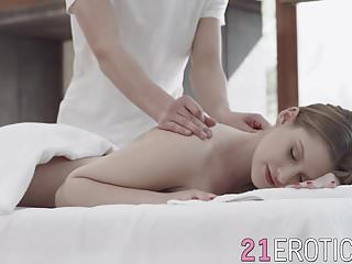 Tiffany receives cunt massage with giant cock...