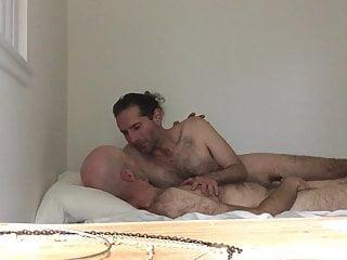 Calista goes to town on my elderly boyfriends big nasty cock