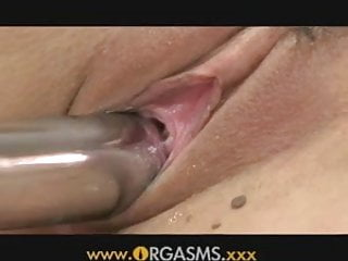 ORGASMS Busty redhead makes herself wet