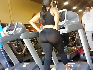 JOM: Extremely Fat Ass on Treadmill!!!! slow mo