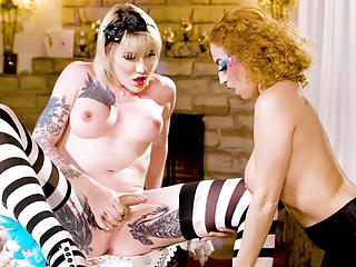Big Tits Trans Girl Cock Penetrating Tiny Babe